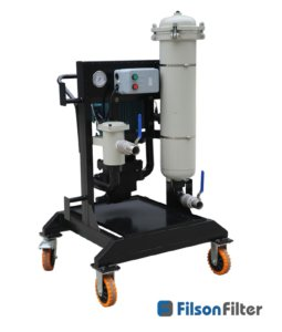 high viscosity portable hydraulic filter cart