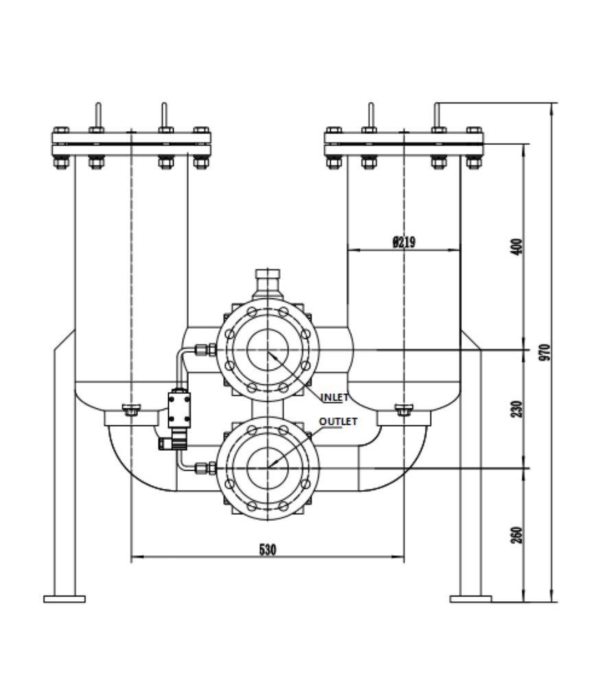 Low pressure Duplex Filter drawing