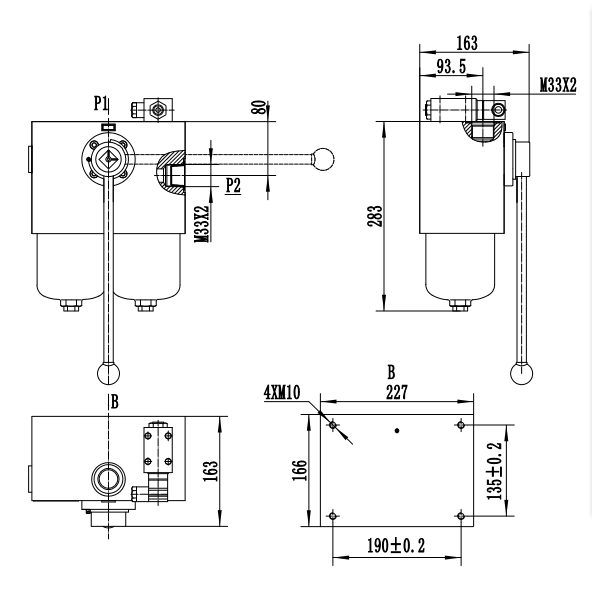 Medium Pressure Duplex Filters drawing