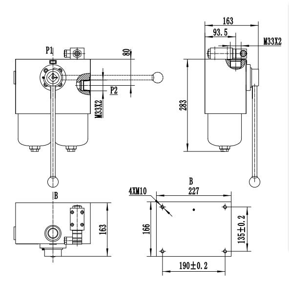 Medium Pressure Duplex Filters drawing