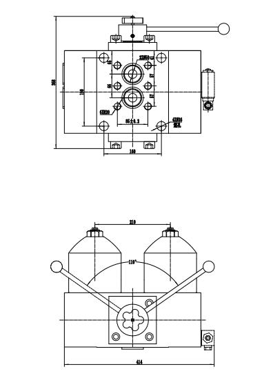 High Pressure Duplex Filter drawing