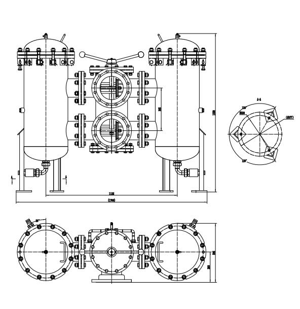 Large Flow Duplex Filter drawing
