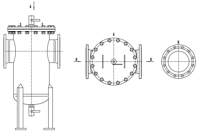 Hydraulic Basket Filter drawing