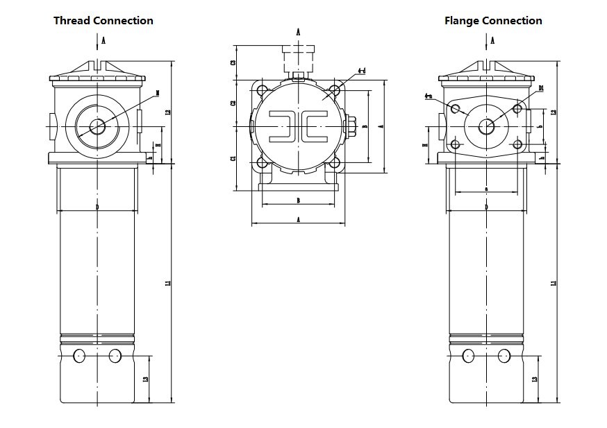 Suction filters drawing
