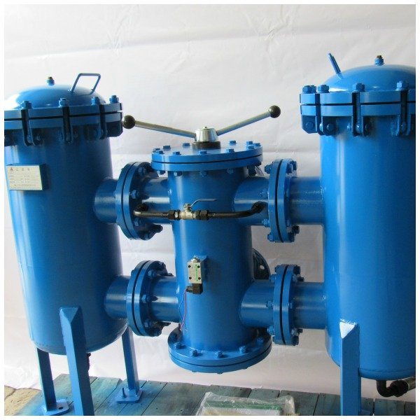 duplex filters with ball valve