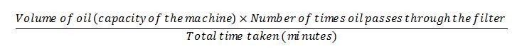 formula for oil filtration