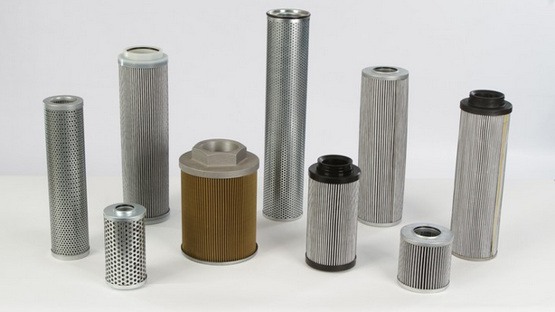 Different types and sizes of filter elements