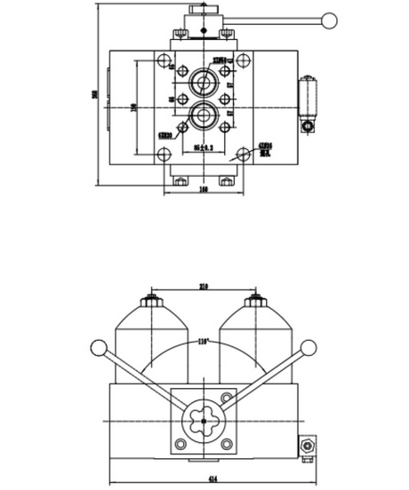 A high pressure duplex filter drawing