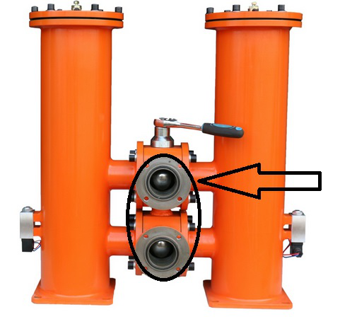 where you will connect the inlet and outlet pipes