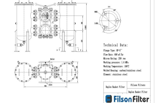 duplex filter drawing