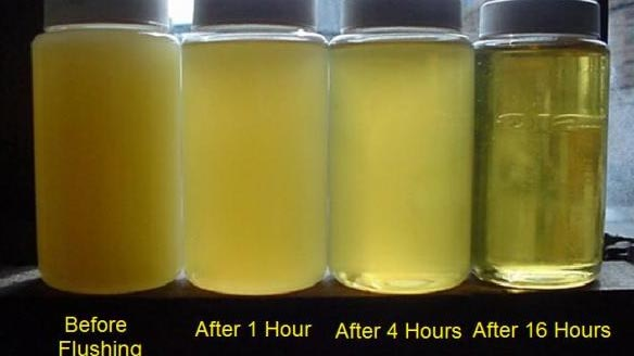 Oil before and after filtration