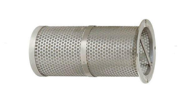 Stainless steel basket filter element