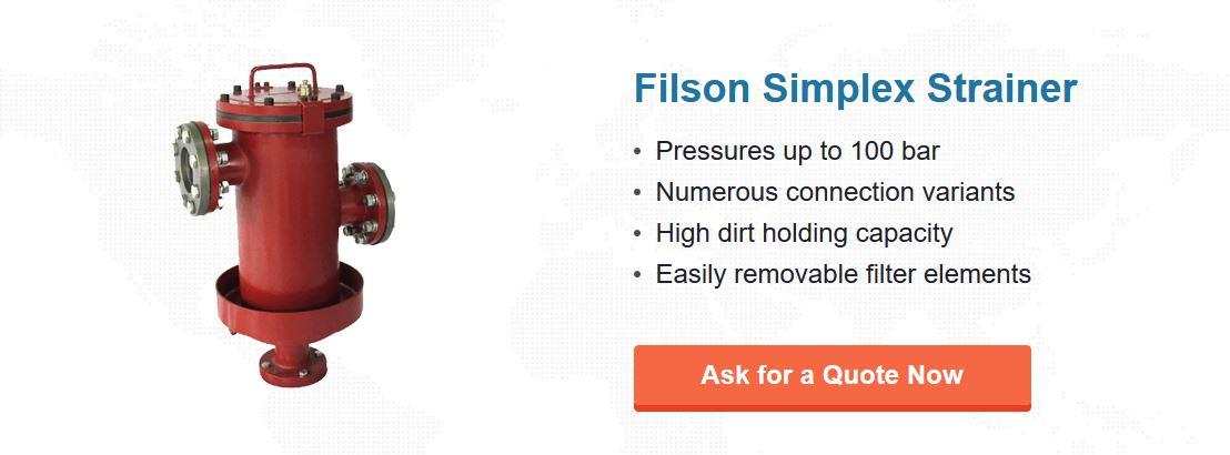 Figure 2 - Filson simplex strainer