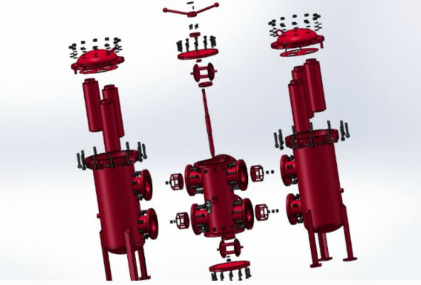 Parts of Duplex Strainer
