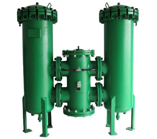 Green duplex strainer