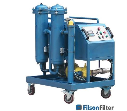 High viscosity filter cart