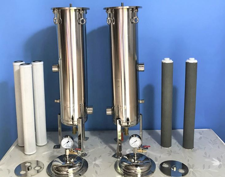 Different types of Cartridge filter housing