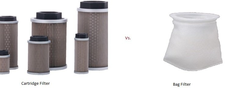 Bag filter vs, cartridge filter