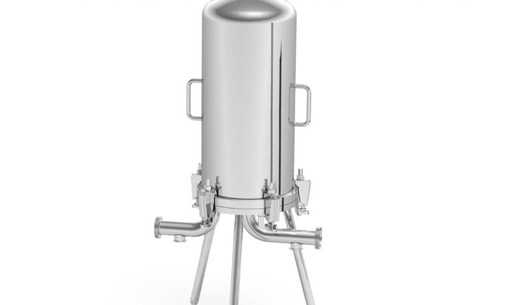 Lenticular filter housing
