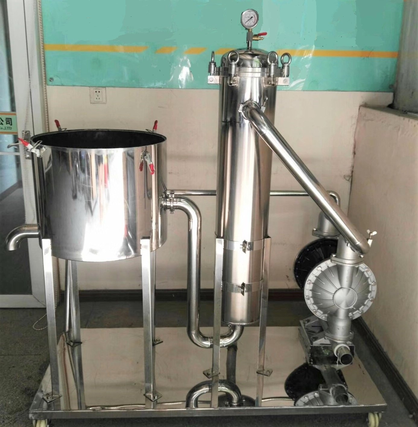 stainless steel filtration cart