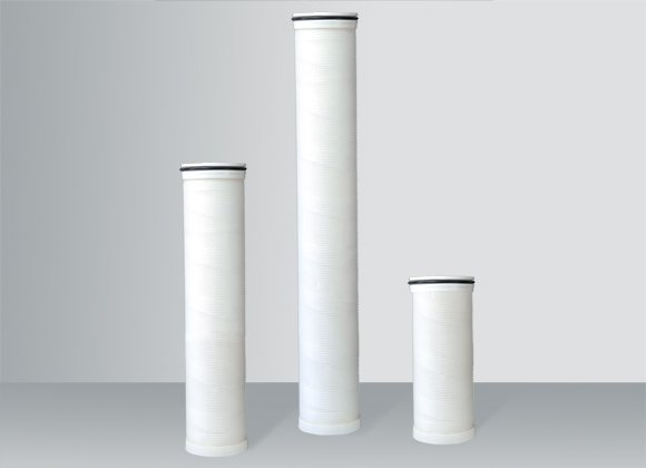 Different sizes of pleated filter cartridge