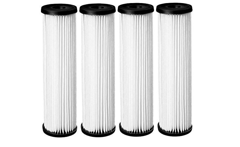 Pleated cellulose filter