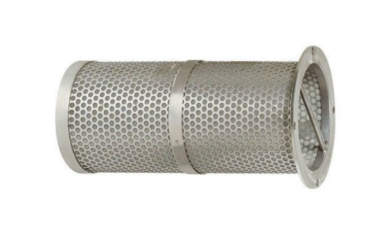 Stainless steel basket filter element