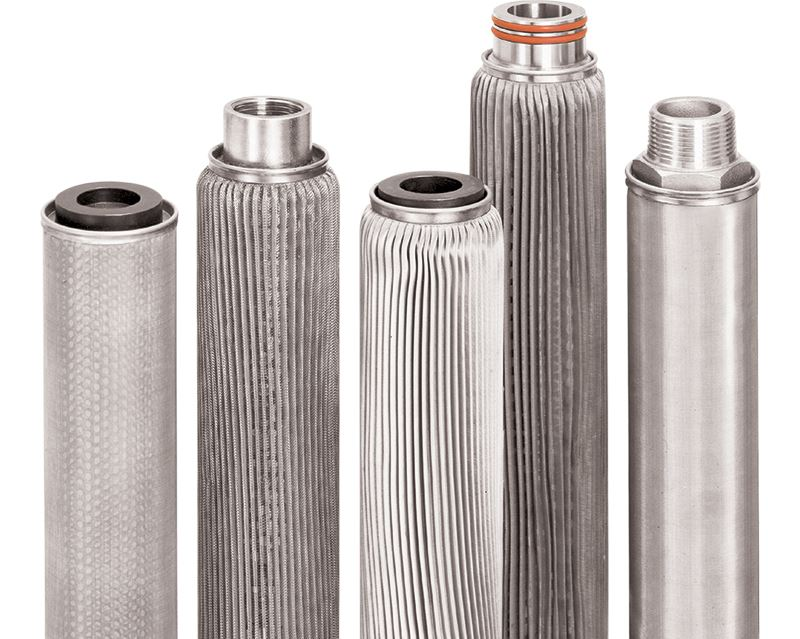 Different designs of stainless steel cartridge filter