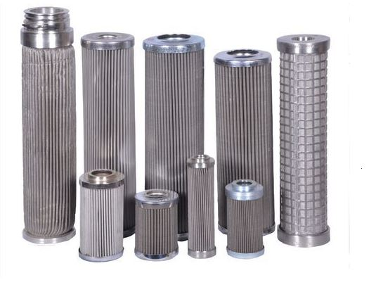 Stainless steel cartridge filter with different diameters
