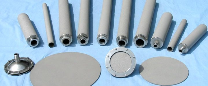 Different sizes of sintered metal filter