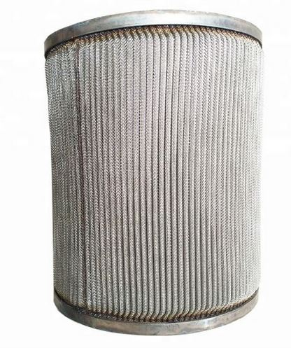 Metal fibler filter cartridge