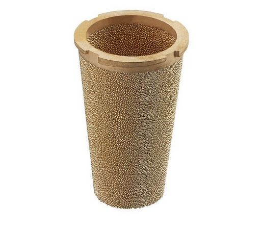 Sintered bronze metal filter element