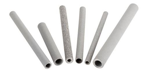Small sintered metal tube
