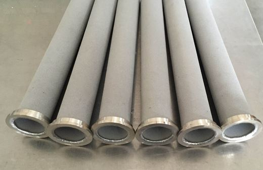 Large sintered metal tube