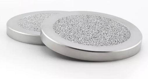Powder metal filter disc