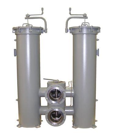 Duplex filter housing