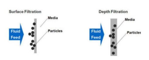 Surface and depth filtration
