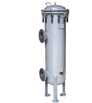 vertical industrial filter housing