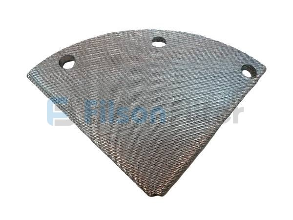 Fan shape sintered filter disc