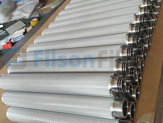 Filson sintered stainless steel mesh filter cartridge