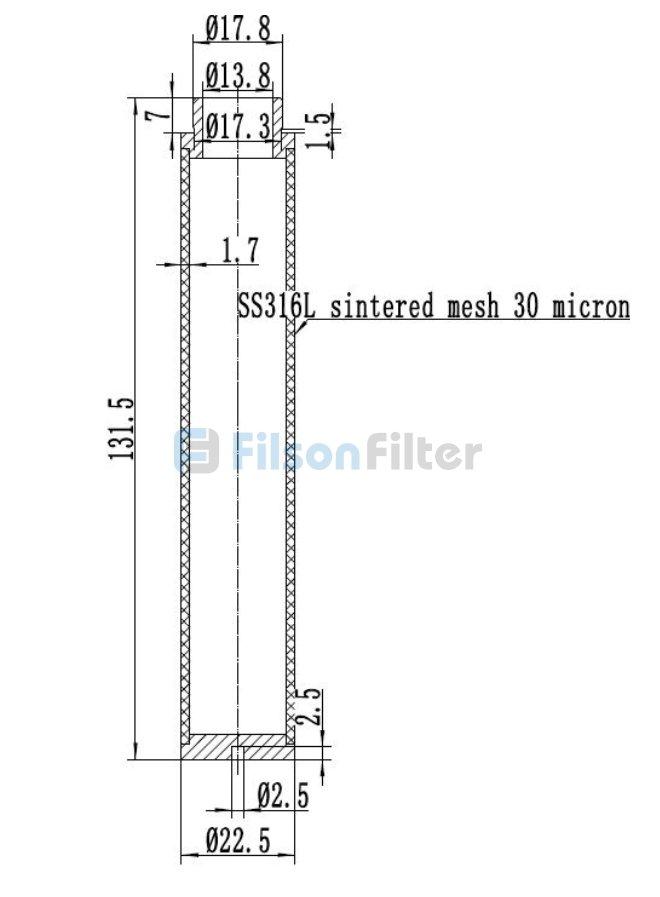 sintered mesh filter design