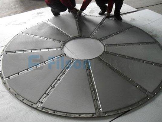 sintered wire mesh disc-