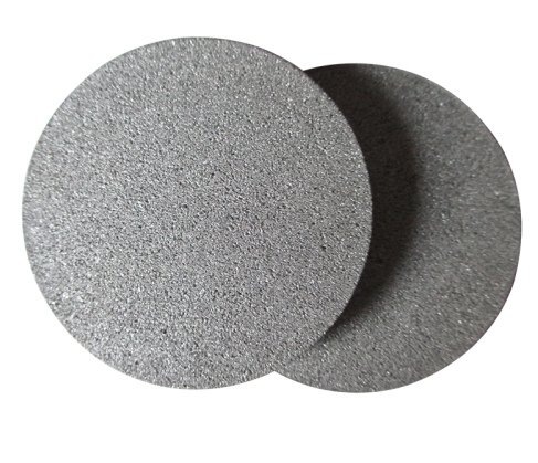 Sintered stainless steel filter disc