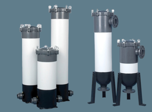 UPVC cartridge filter housing with without support legs