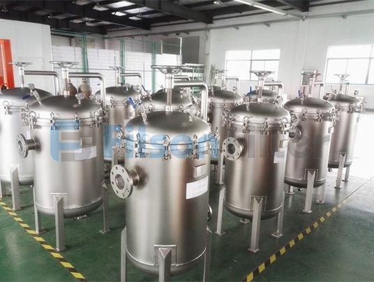 Filson bag filter system for beer filtration