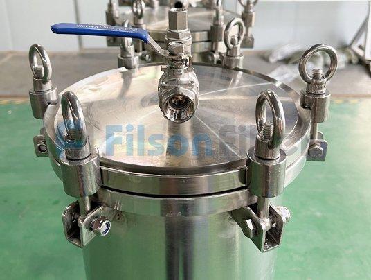 SS316 single cartridge filter vessel