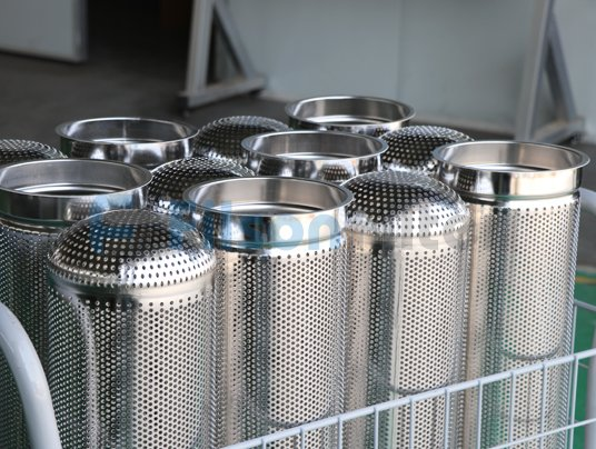 stainless steel filter cartridge for liquids